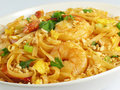 Shrimp Pad Thai Stock Image
