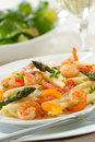 Shrimp Pasta Royalty Free Stock Photography
