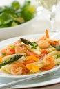 Shrimp Pasta Royalty Free Stock Photo
