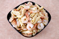 Shrimp pasta Stock Images