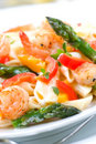 Shrimp Pasta Royalty Free Stock Photos