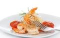 Shrimp with Pasta Royalty Free Stock Photo