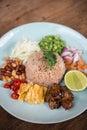 Shrimp paste fried rice. Royalty Free Stock Photo