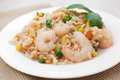 Shrimp pilaf with rice and vegetables Royalty Free Stock Photo