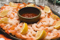 Shrimp Platter Royalty Free Stock Photography