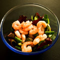 Shrimp or Prawns in Lettuce Royalty Free Stock Photo