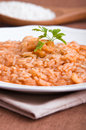 Shrimp risotto. Royalty Free Stock Images