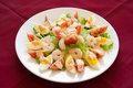 Shrimp salad, lebanese food. Royalty Free Stock Images