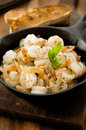 Shrimp scampi closeup of in a garlic butter and herb sauce Royalty Free Stock Image