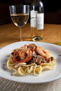 Shrimp Scampi with Linguine Royalty Free Stock Photo