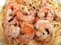 Shrimp Scampi With Linguini Royalty Free Stock Photo