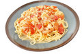 Shrimp Scampi with pasta Royalty Free Stock Photography