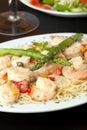 Shrimp Scampi with Spaghetti Royalty Free Stock Photo