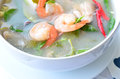Shrimp soup tom yum goong thailand food Royalty Free Stock Photos