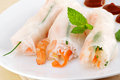 Shrimp spring rolls Royalty Free Stock Photography