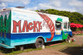 Shrimp truck in oahu hawaii Stock Photos