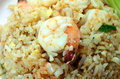 Shrimps fried rice thai special dish with Stock Photography