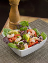 Shrimps salad plate of delicious Stock Photo
