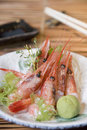 Shrimps Sashimi Stock Photography