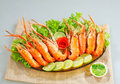 Shrimps seafood Stock Photos