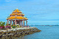Shrine of guan yin at koh loy sriracha chonburi thailand Stock Photo