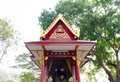 Shrine the holy thing hallowed surrounded by trees and nature Stock Photography