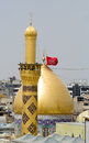 The shrine of imam hussein in karbala iraq – may grandson prophet mohammed prophet islam third at shiite Stock Images