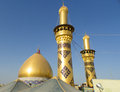The shrine of imam hussein in karbala iraq – may grandson prophet mohammed prophet islam third at shiite Royalty Free Stock Photography