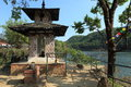 Shrine in pokhara a nepal Royalty Free Stock Photo
