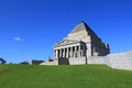 Shrine of remembrance melbourne beautiful architecture australia Royalty Free Stock Photography