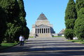 Shrine of remembrance melbourne local couple strolling around the beautiful architecture australia Royalty Free Stock Images
