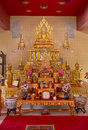 The Shrine At Wat Mongkolrata Buddhist Temple Royalty Free Stock Photo
