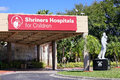 The shriners hospitals for children main entrance of taken in tampa florida international and Stock Photo