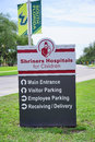 The shriners hospitals for children and usf main entrance of taken in tampa florida international Stock Photo