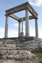 Shrirne the shrine of four post is a religious monument in the city of avila it consists of four doric columns five feet above the Royalty Free Stock Image