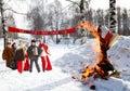 Shrovetide εορτασμού Στοκ εικόνα με δικαίωμα ελεύθερης χρήσης