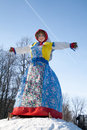 Shrovetide. Big doll for the burning. Royalty Free Stock Images