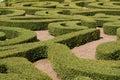 Shrubs Maze Royalty Free Stock Photo