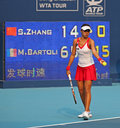 Shuai Zhang (CHN), tennis player Stock Image