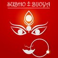 Shubho bijoya easy to edit vector illustration of subho wishing for happy dussehra Stock Images