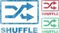 Shuffle Icons Stock Images