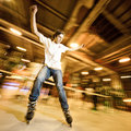 Shuffle (slide) competition Royalty Free Stock Photography