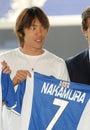 Shunsuke Nakamura presentation Royalty Free Stock Photo