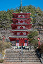 Shureito five stories red pagoda Royalty Free Stock Photo