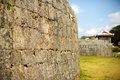Shuri castle grounds protective wall on the of in naha okinawa japan Stock Photos