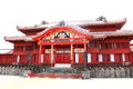 Shurijo castle was proud of prosperity as the center of king of ryukyu state politics diplomacy culture in country of monarchy Royalty Free Stock Image