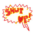 Shut up cartoon shout Stock Image