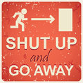 Shut up sign illustration Stock Image