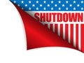 Shutdown closed united states of america page corn vector corner Stock Photos