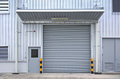 Shutter door outside of factory Royalty Free Stock Photography